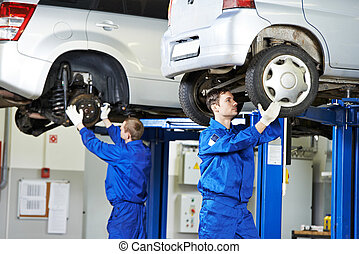 ремонт, автомобиль, работа, механик, авто, подвеска