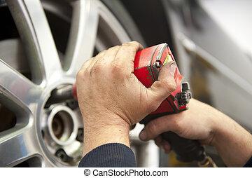 ремонт, гараж, авто, механик, автомобиль