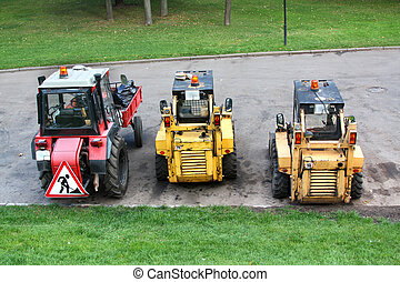 ремонт, дорога, оборудование