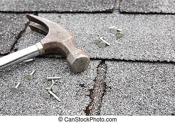 ремонт, крыша