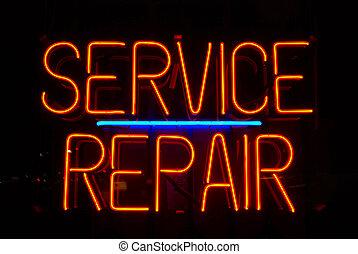 ремонт, оказание услуг, знак