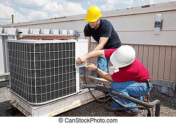 ремонт, промышленные, кондиционирование, воздух
