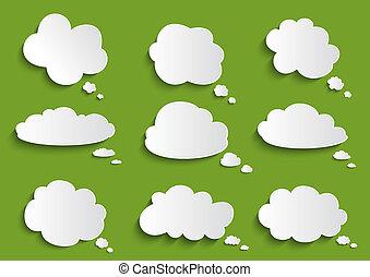 речь, пузырь, облако, коллекция