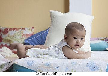 родился, постель, тема, новый, лицо, детка, использование, лгал, здоровый