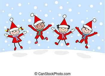 рождество, веселый