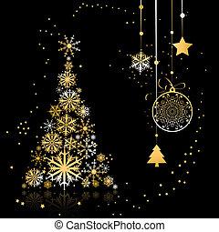 рождество, дерево, красивая