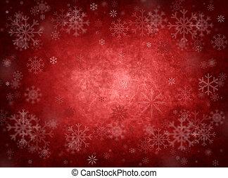 рождество, красный, задний план, лед