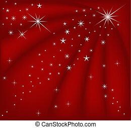 рождество, красный, магия