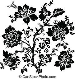 роза, вектор, иллюстрация