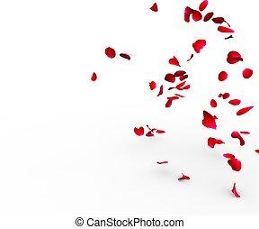 роза, falling, поверхность, petals