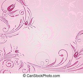 розовый, гранж, задний план