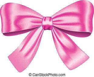 розовый, подарок, лук