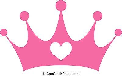 роялти, девчушки, розовый, принцесса, корона