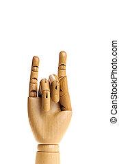 рука, деревянный