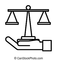 рука, масштаб, стиль, lifting, баланс, линия, значок
