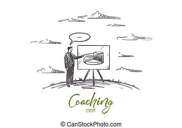 рука, vector., concept., вничью, isolated, coaching