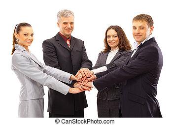 руки, группа, shanking, бизнес, люди