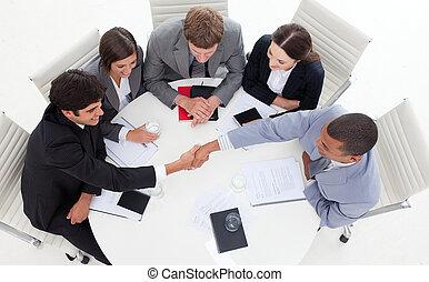 руки, люди, бизнес, успешный, международный, shaking