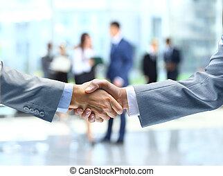 рукопожатие, бизнес, люди