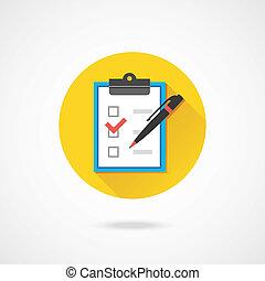 ручка, вектор, checkboxes, форма