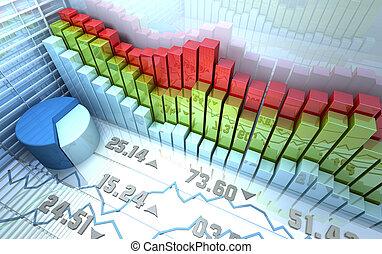 рынок, задний план, акции