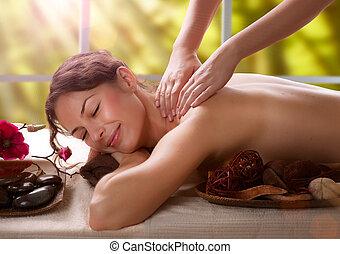 салон, massage., спа