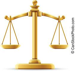 сбалансированный, справедливость, масштаб