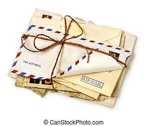 свая, старый, воздушная почта, буквы