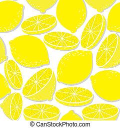 свежий, белый, лимон, isolated