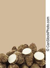 свежий, таро, roots(colocasia)