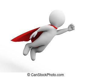сверхчеловек, герой, супер, летающий, 3d