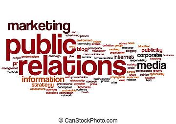 связи, слово, общественности, облако