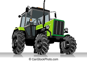 сельскохозяйственное, вектор, трактор