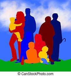 семья, иллюстрация