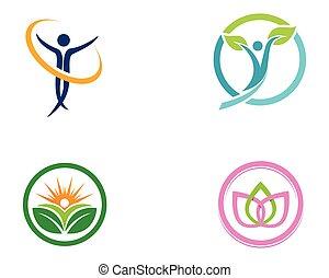 семья, природа, symbols, здоровье, терапия, логотип, забота