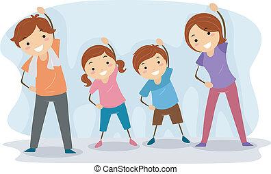 семья, упражнение