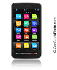 сенсорный экран, смартфон