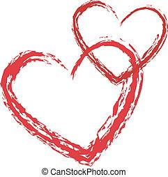 сердце, вектор, люблю