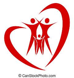 сердце, вектор, семья