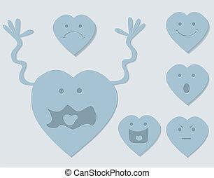 сердце, задавать, мультфильм