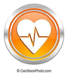 сердце, знак, пульс, ставка, значок