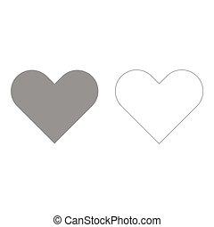 сердце, значок, задавать