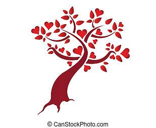 сердце, иллюстрация, дерево