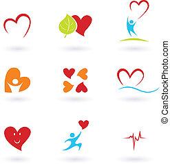 сердце, кардиология, icons