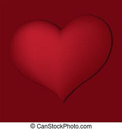сердце, красный