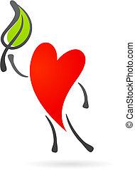 сердце, лист