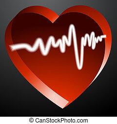сердце, монитор, пульс