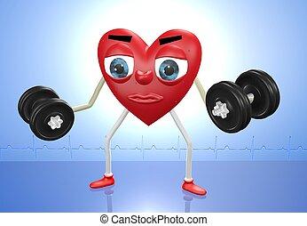 сердце, персонаж, weights