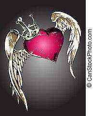 сердце, племенной, иллюстрация