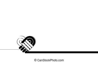сердце, рукопожатие, 01, люблю, forming, символ